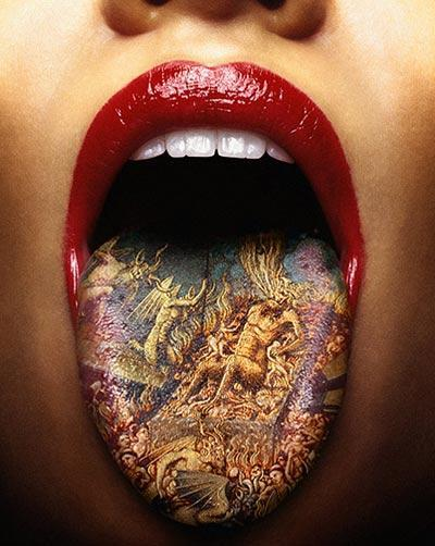 Skull fucked tattooed ho 4