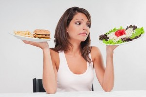 Girl dieting
