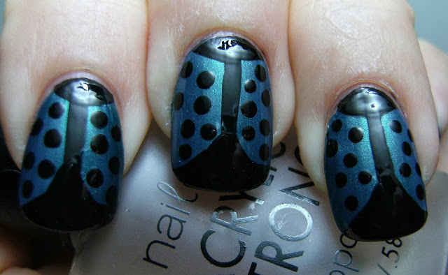 blue and black ladybug