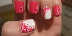 Polka Dots Nail Art Tutorial & Photos