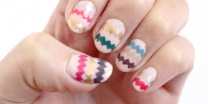 Zigzag Nail Art Design Tutorial and Photos